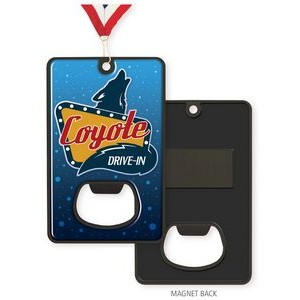 3 1/4'' Express Vibraprint™ Bottle Opener Medallion