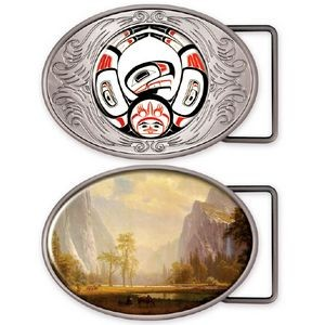 Express Vibraprint™ Oval Belt Buckle Medallion