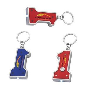 #1 Shape LED Key Chain